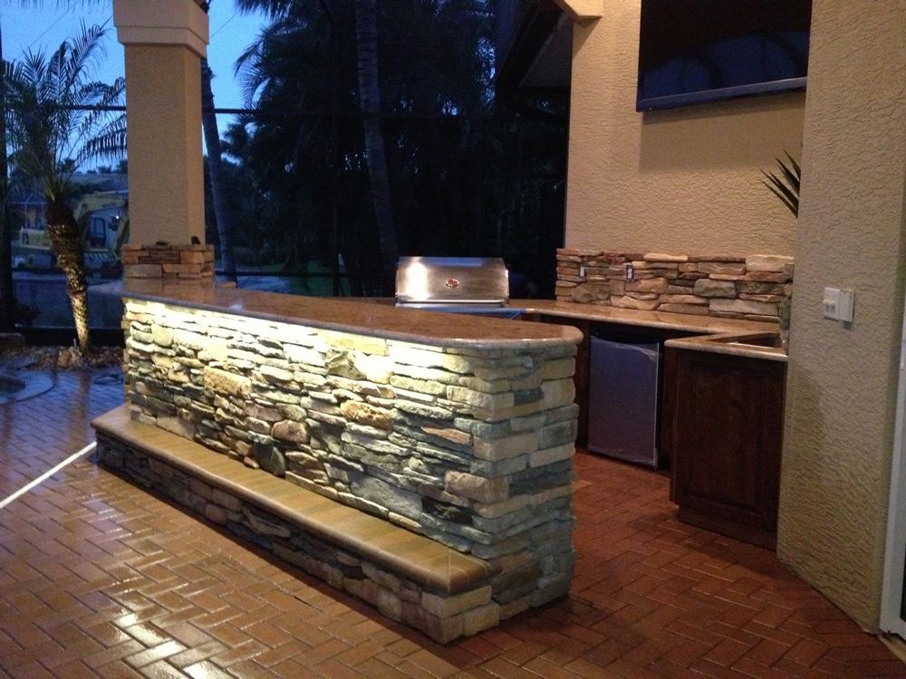 Backyard Kitchen Remodel Fort Myers