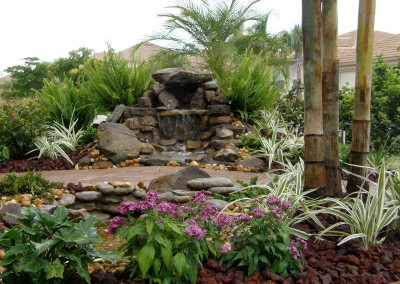 Natural-waterfall-on-landscpaed-path