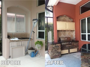 Outdoor Kitchen before and after